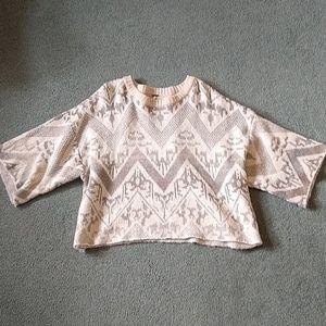 Free People Crop Top Sweater